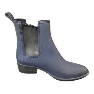 Jeffrey Campbell Sz 7 Chelsea Navy Rain Boot